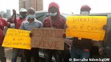 12.8.2021 ,Luanda, Angola, Illustration of the demands of ENDE workers on strike.