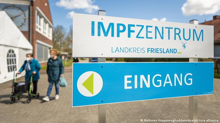 A vaccination center in Friesland, Lower Saxony