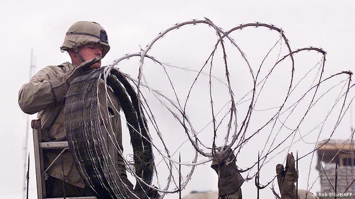 Soldados de EE.UU. en Kabul.