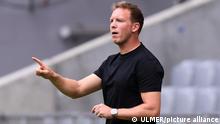 Fussball Audi Football Summit 2021 in der Allianz Arena FC Bayern Muenchen - SSC Neapel 31.07.2021 Trainer Julian Nagelsmann (FC Bayern Muenchen) FOTO: ULMER Pressebildagentur xxNOxMODELxRELEASExx