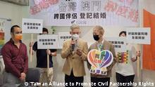 Taiwan, 2021+++Same-sex couple from Taiwan and Macau married in Taiwan after landmark legal win