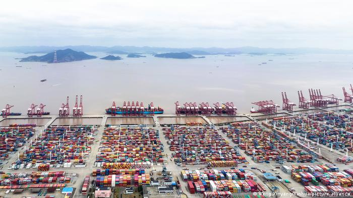 El puerto de contenedores de Ningbo-Zhoushan, cerca de Shanghai.