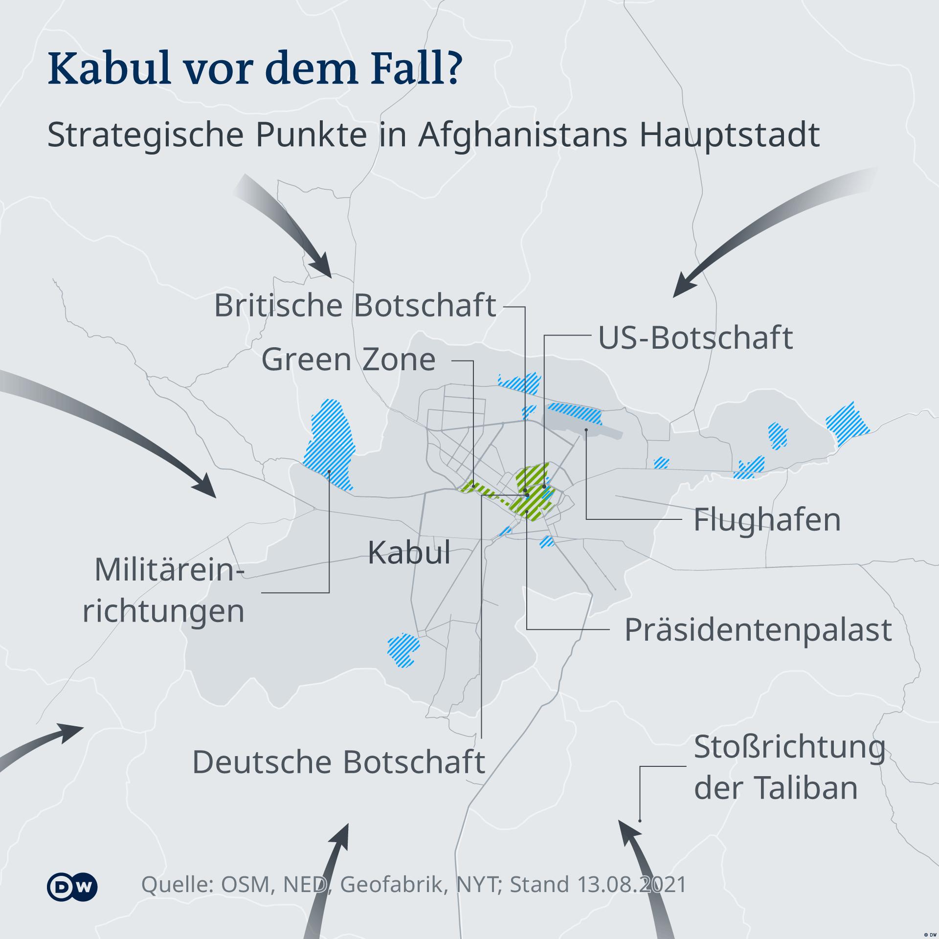 Infografik - Kabul vor dem Fall? - DE