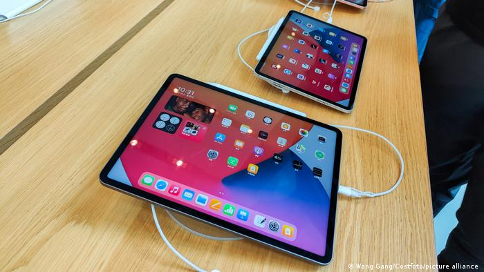 The latest iPad Pro on show at an Apple store