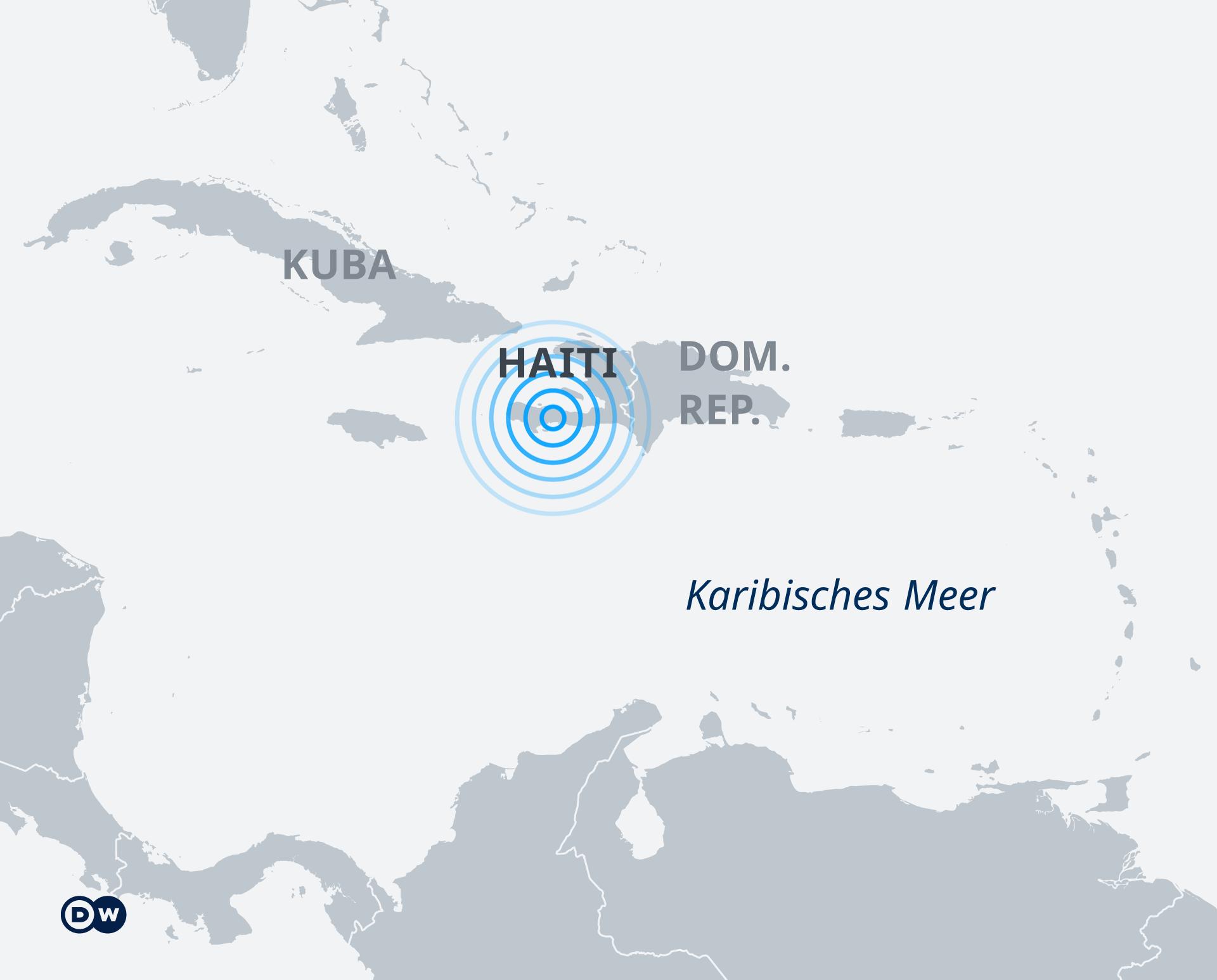 Karte Erdbeben Haiti DE