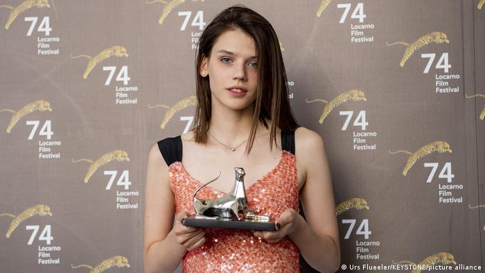 Анастасия Красовская с Золотым леопардом за лучшую женскую роль на фестивале в Локарно