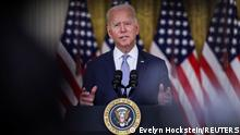 U.S. President Joe Biden discusses his 'Build Back Better' agenda and administration efforts to lower prescription drug prices during a speech in the East Room at the White House in Washington, U.S., August 12, 2021. REUTERS/Evelyn Hockstein