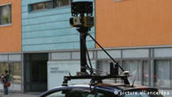 Google car with camera mounted on top