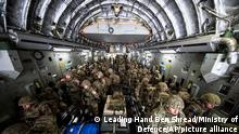 15.08.2021++++ In this photo prvided by the Ministry Of Defence on Sunday, Aug. 15, 2021, British Forces from 16 Air Assault Brigade arrive in the Afghan capital of Kabul to assist in evacuating British nationals and entitled persons as part of Operation PITTING amidst the worsening security situation there. (Leading Hand Ben Shread/MOD via AP)