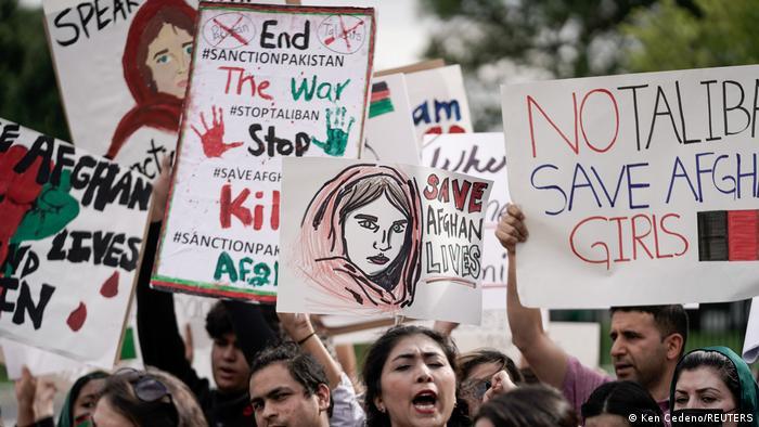 USA I Demonstration zur Lage in Afghanistan in Washington