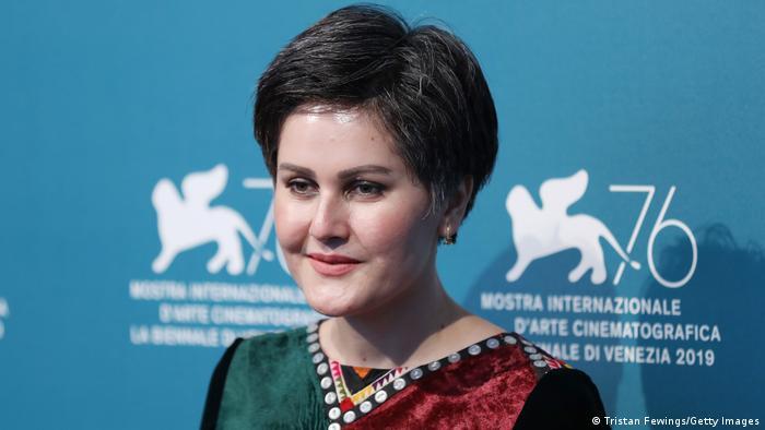 Regisseurin Sahraa Karimi 2019 bei den Filmfestspielen in Venedig