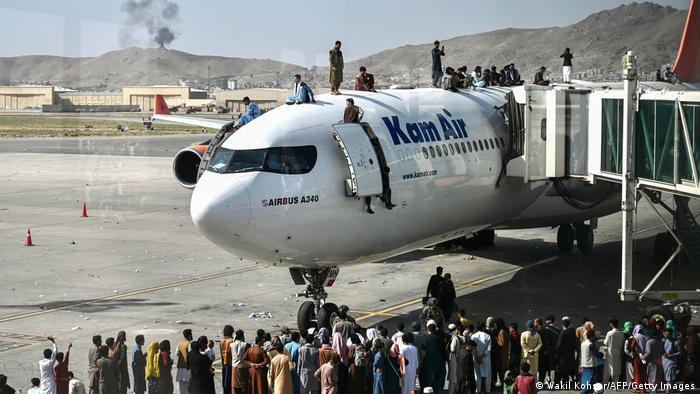 Afghanistan Chaos am internationalen Flughafen Hamid Karzai in Kabul