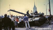 Augustputsch 1991 in der UdSSR / Frauenstimmen Panzer auf Moskauer Strassen, Augustputsch 1991