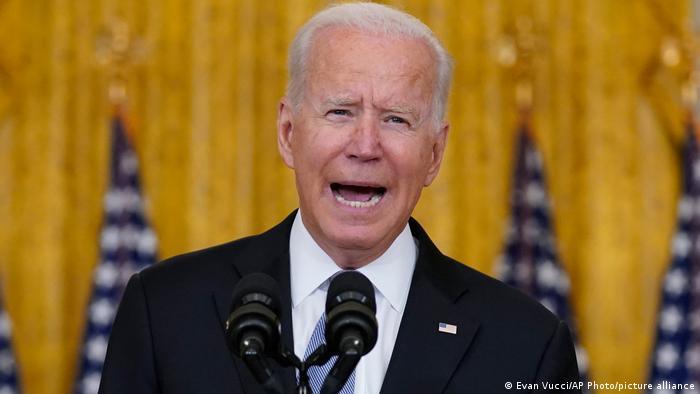 US-Präsident Joe Biden spricht aus dem East Room des Weißen Hauses über Afghanistan