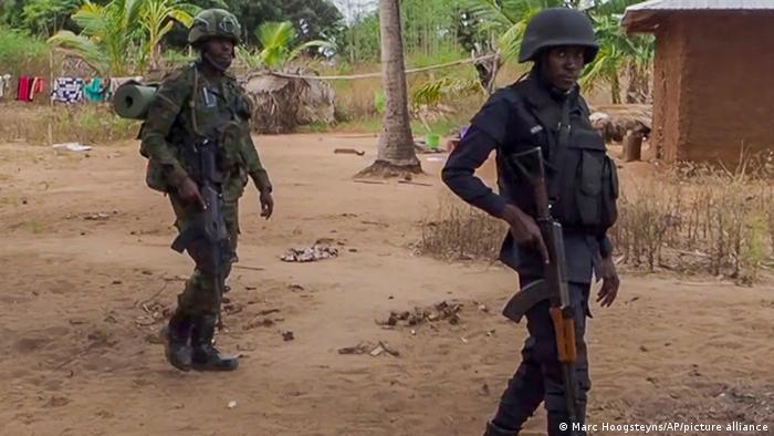 Soldats rwandais dans la province de Cabo Delgado le 9 août 2021