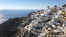Before the pandemic, 2 million tourists came to the island of Santorini each year
