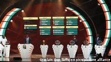 Football - 2021 Africa Cup of Nations - Official Draw - Yaounde - Cameroon. General view of Groups at the 2021 Africa Cup of Nations (Afcon) Draw at the Palais de Congress Hall in Yaounde, Cameroon on 17 August 2021 ©Alain Guy Suffo/Sports Inc URN:61767010