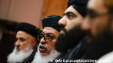 MOSCOW, RUSSIA - JANUARY 29: A Taliban delegation led by Sher Mohammad Abbas Stanikzai holds a press conference after a meeting with Zamir Kabulov, President Vladimir Putin's special envoy to Afghanistan, in Moscow, Russia on January 29, 2021. Sefa Karacan / Anadolu Agency
