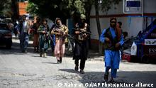 Taliban fighters patrol in the Wazir Akbar Khan neighborhood in the city of Kabul, Afghanistan, Wednesday, Aug. 18, 2021. The Taliban declared an amnesty across Afghanistan and urged women to join their government Tuesday, seeking to convince a wary population that they have changed a day after deadly chaos gripped the main airport as desperate crowds tried to flee the country. (AP Photo/Rahmat Gul)