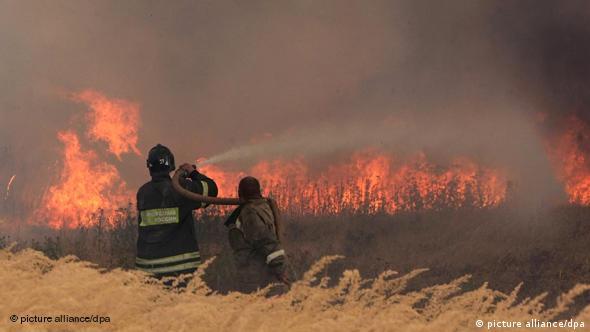 Пожарные борются с огнем в Рязанской области