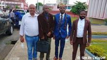 August 2021 Angola Cabinda | João Mampuela, António Paulo, Maurício Ngimbi und André Bonzela - Aktivisten aus Cabinda