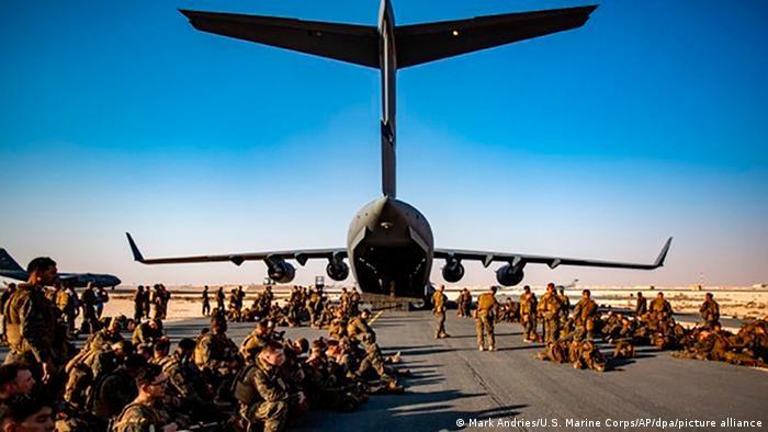 Al-Udeid, an American Air Base in Qatar, around 35 KM southwest of Doha.