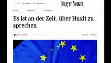Screenshot Magyar Nemzet 19.08.2021 Huxit