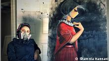 Shamsia Hassani, the 1st Afghan female graffiti/street artist. Quelle: https://www.instagram.com/shamsiahassani/?hl=en