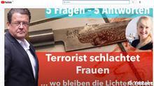 Reißerischer Titel, fehlerhafter Inhalt: In seinem YouTube Video zum Messerangriff von Würzburg stellt der AfD-Bundestagsabgeordnete Stephan Brandner zahlreiche falsche Behauptungen auf. Quelle: https://www.youtube.com/watch?v=5_0i_JRCxOY