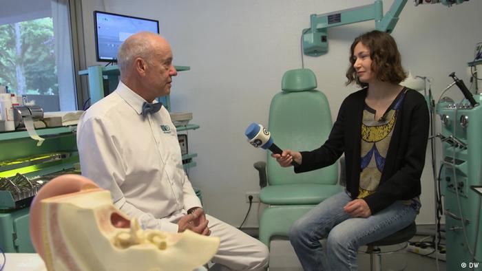 Jürgen Zastrow being interviewed by DW
