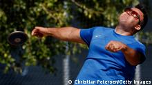 MESA, ARIZONA - MAY 30: Shahrad Nasajpour competes in the Mens Discus Throw Ambulatory F37 during the Desert Challenge Games at Westwood High School on May 30, 2021 in Mesa, Arizona. (Photo by Christian Petersen/Getty Images)
