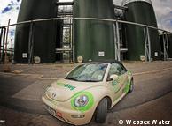 El biometano se extrae de los excrementos recogidos en una planta de tratamiento de aguas residuales.
