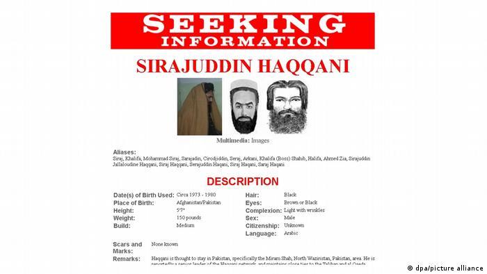 Schon lange im Visier der USA: Steckbrief von Siradschuddin Hakkani von September 2011