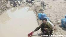 Belutschistan | Klimawandel Animals and humans are drinking water from the same ponds due to water scarcity in Baluchistan Photo Babrak Karmal