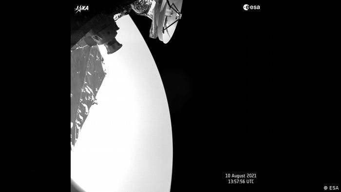 A shot of Venus taken by the BepiColombo probe