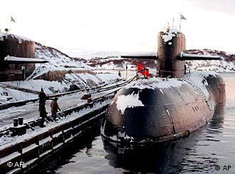 Decommissioned Russian nuclear submarines are shown in their Arctic base of Severomorsk, the Kola Peninsula