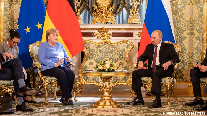 Russland Moskau | Angela Merkel und Vladimir Putin