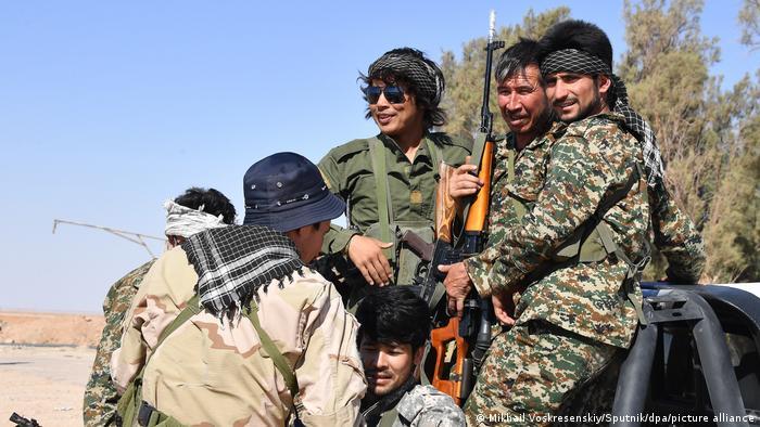 عناصر لواء بطميون في سوريا.