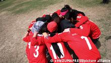 KABUL, April 1, 2011 Afghan women's national soccer team cheer up before a friendly match against NATO-led International Security Aid Force women's soccer team in Kabul, capital of Afghanistan, on April 1, 2011. The match ended with a 0-0 tie. (Xinhua/Ahmad Massoud