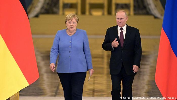 Анґела Меркель та Володимир Путін