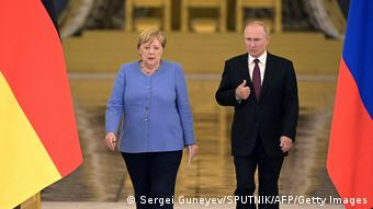 Ангела Меркель и Владимир Путин 20 августа 2021 года в Кремле