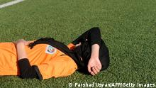 A football player in Kabul