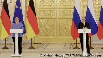 H Καγκελάριος Μέρκελ και ο Πρόεδρος Πούτιν