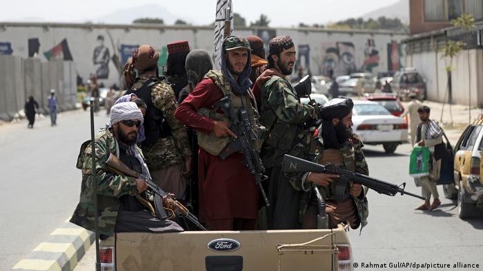 Taliban fighters patrolling the streets in Kabul