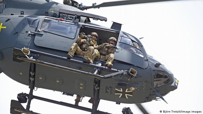 Photo of the Airbus H145M, used by German special forces