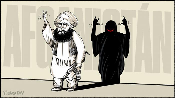 Karikatur von Vladdo   Taliban Rechte von Frauen in Afghanistan
