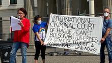 Brasileiros fazem novo protesto contra Bolsonaro em Berlim
