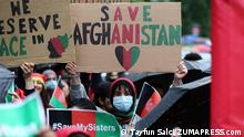 August 21, 2021, London, England, United Kingdom: Thousands of Afghans march through central London asking international community no to recognise Taliban. Protesters said Taliban pose a threat to women's rights. (Credit Image: © Tayfun Salci/ZUMA Press Wire