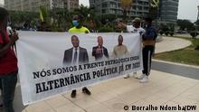 Demonstranten in Luanda protestieren für einen politischen Wechsel bei den Wahlen in Angola 2022 via Cristiane Teixeira Sa, 21.08.2021 18:24