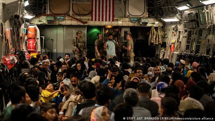 Afghanistan Kabul Airport   Evakuierungen